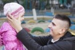father and daughter,playground