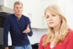 Mature Couple Having Arguement At Home